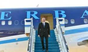 President Ilham Aliyev arrives in Turkey (PHOTO)