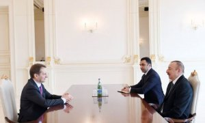 Ilham Aliyev receives director of Russia's Foreign Intelligence Service