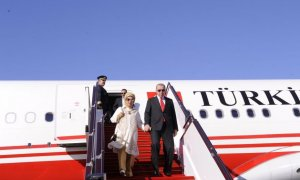 Turkish President Recep Tayyip Erdogan arrives in Azerbaijan for visit (PHOTO)