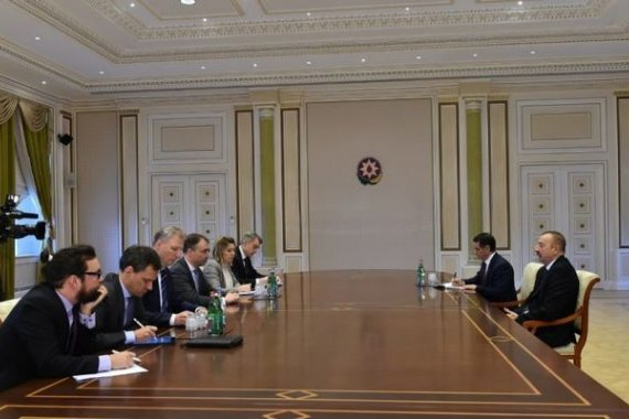 Ilham Aliyev receives delegation led by EU special rep (PHOTO)