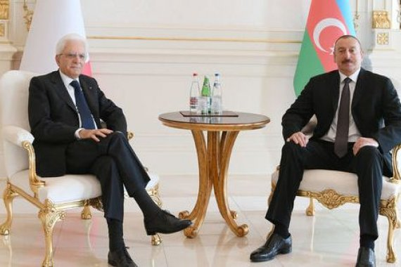 One-on-one meeting of presidents of Azerbaijan and Italy takes place in Baku (PHOTO)